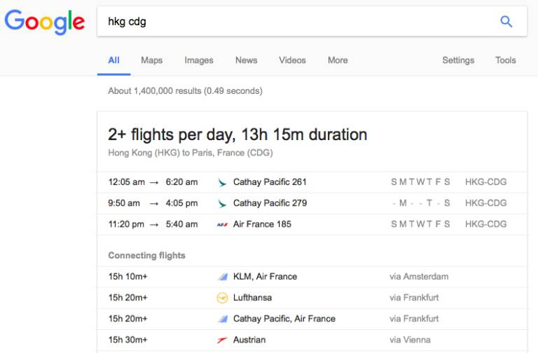 google-search-flight