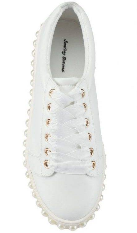 Something Borrowed Pearl Studded Sneakers