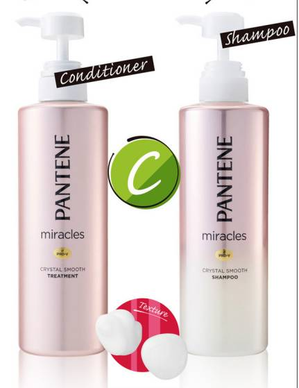 PANTENE miracles Crystal Smooth Shampoo + Conditioner