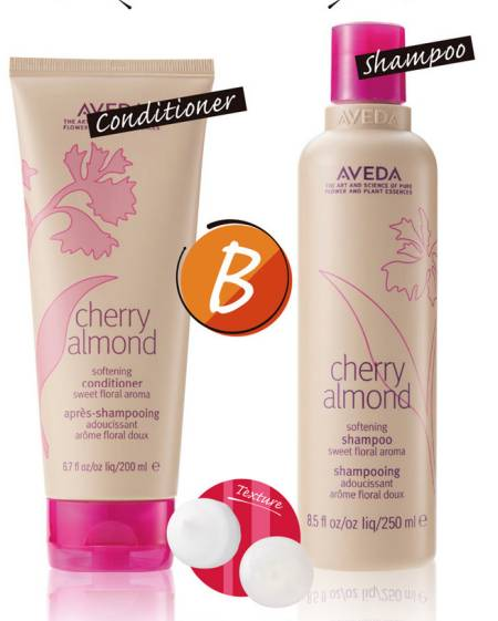 AVEDA Cherry Almond Series Softening Shampoo + Conditioner