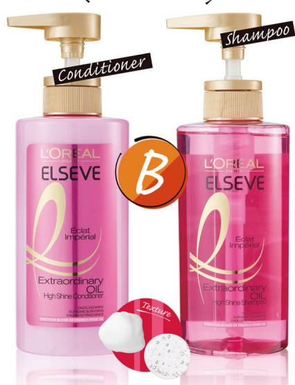 L'OREAL ELSEVE Extraordinary Oil Eclat Imperial High Shine Shampoo + Conditioner