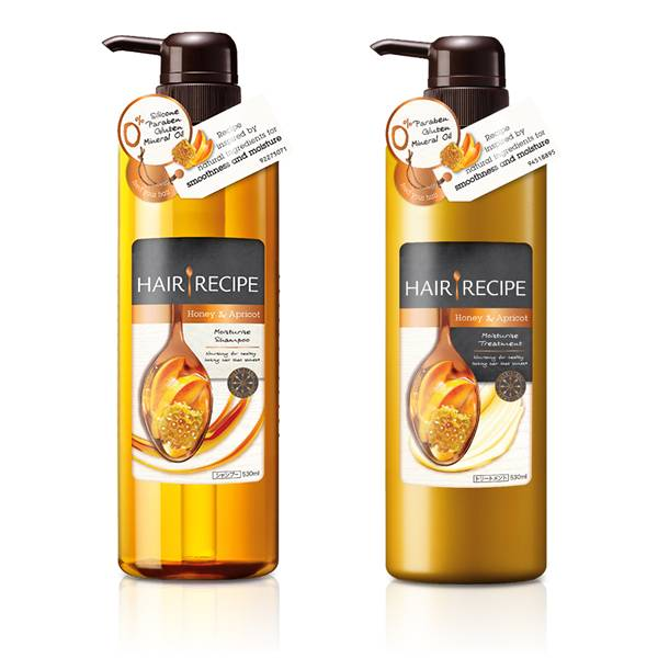 Hair Recipe Honey & Apricot enrich moisture recipe shampoo + treatment