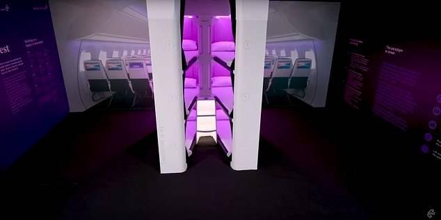 紐西蘭航空, 經濟艙, 奧克蘭, 紐約, 飛機設計, Sky Counch, Skynest' section