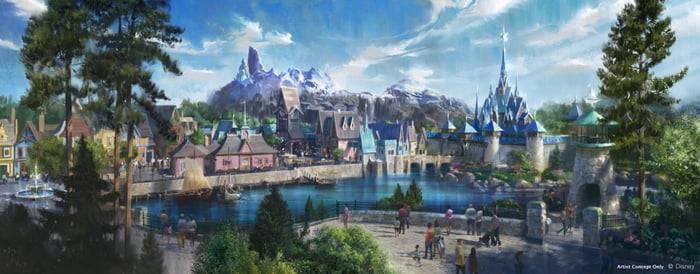 整個Frozen Land( 圖片來源:Disney Park Blog )
