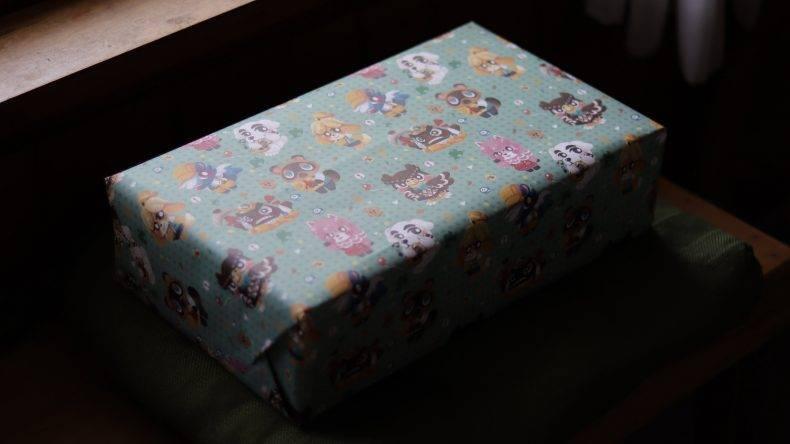 包裝紙都是動物之森。