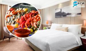 【#GOtrip快閃12點】城市花園酒店連一晚住宿 人均$374送雙人自助晚餐