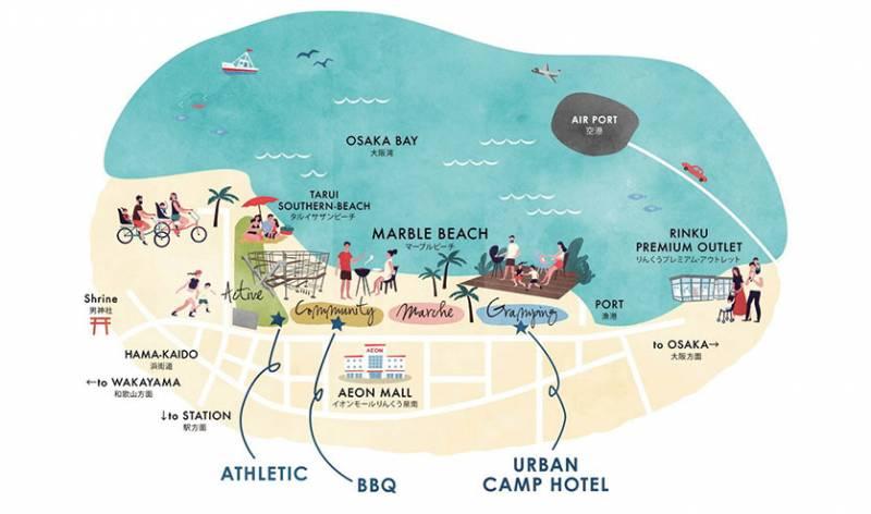 關西, 全新夏威夷風度假區, SENNAN LONG PARK!Glamping, 海景BBQ, 極限運動