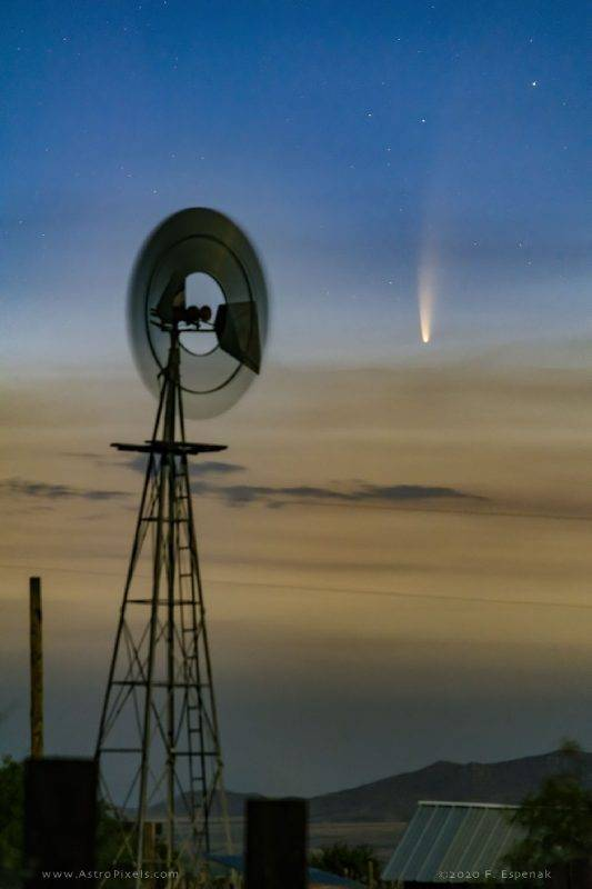 天文現象, 彗星NEOWISE, 香港, 肉眼睇