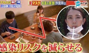 新冠肺炎, 日本節目,《教えてもらう前と後》, 大谷義夫博士, 戴口罩進食