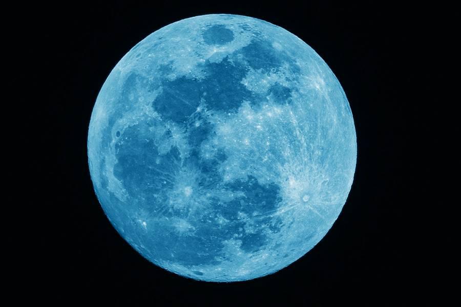 【藍月亮】今年10月31日萬聖節出現「藍月亮」,如果當日天氣好的話,也許大家就可以用肉眼看到絕美天文現象。(圖片來源:pixabay)