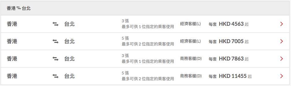 香港航空年票減價低至半價|(香港航空網頁截圖)