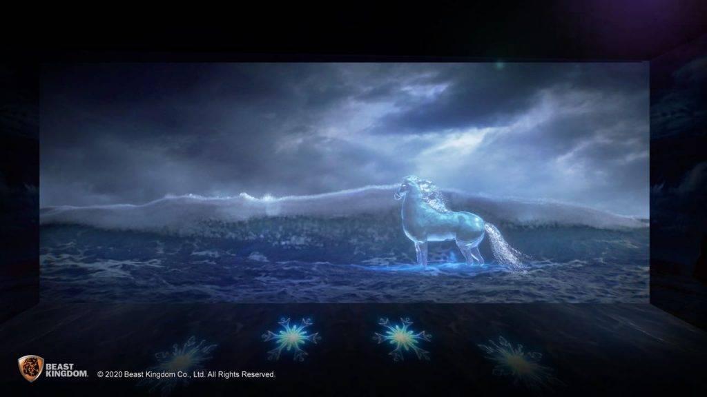 【5.黑海】參加者可化身愛莎一樣,於星辰之下施展強大魔法,馴服水精靈,並越過海面抵達未知之域。(圖片來源:《富衛保險》)