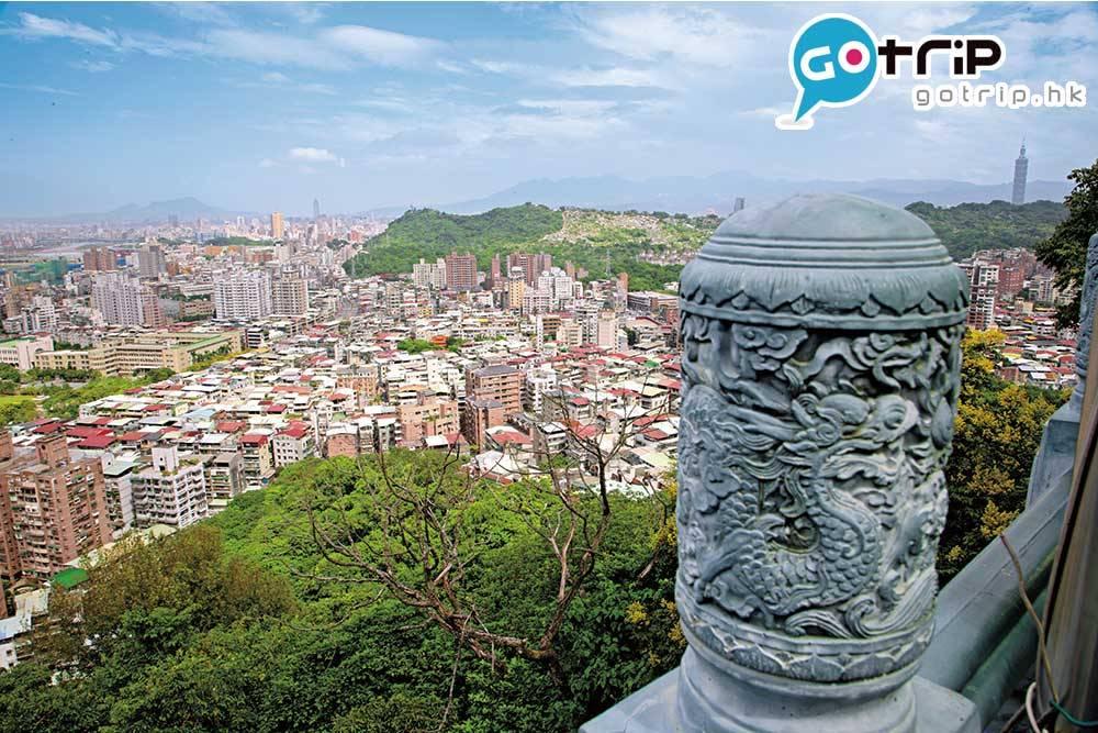 從仙跡岩可眺望台北與新店的風景。( 臺北市政府觀光傳播局提供 )