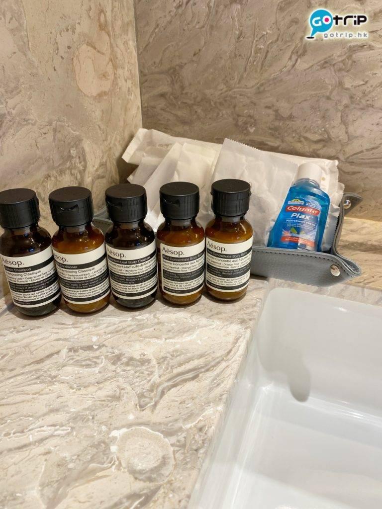 而房內提供Aesop的洗頭水及沐浴露