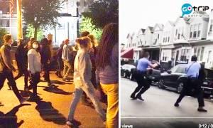美國警察開多槍擊斃黑人男子 民眾示威抗議引警民衝突 開貨車撞斷警員腿