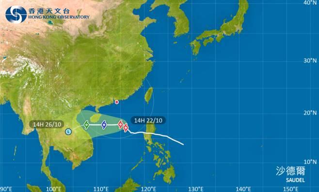 熱帶氣旋路徑資訊(圖片來源:天文台)