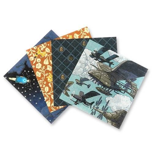 龍貓、千與千尋、魔女宅急便、天空之城和紙千代紙摺紙套裝