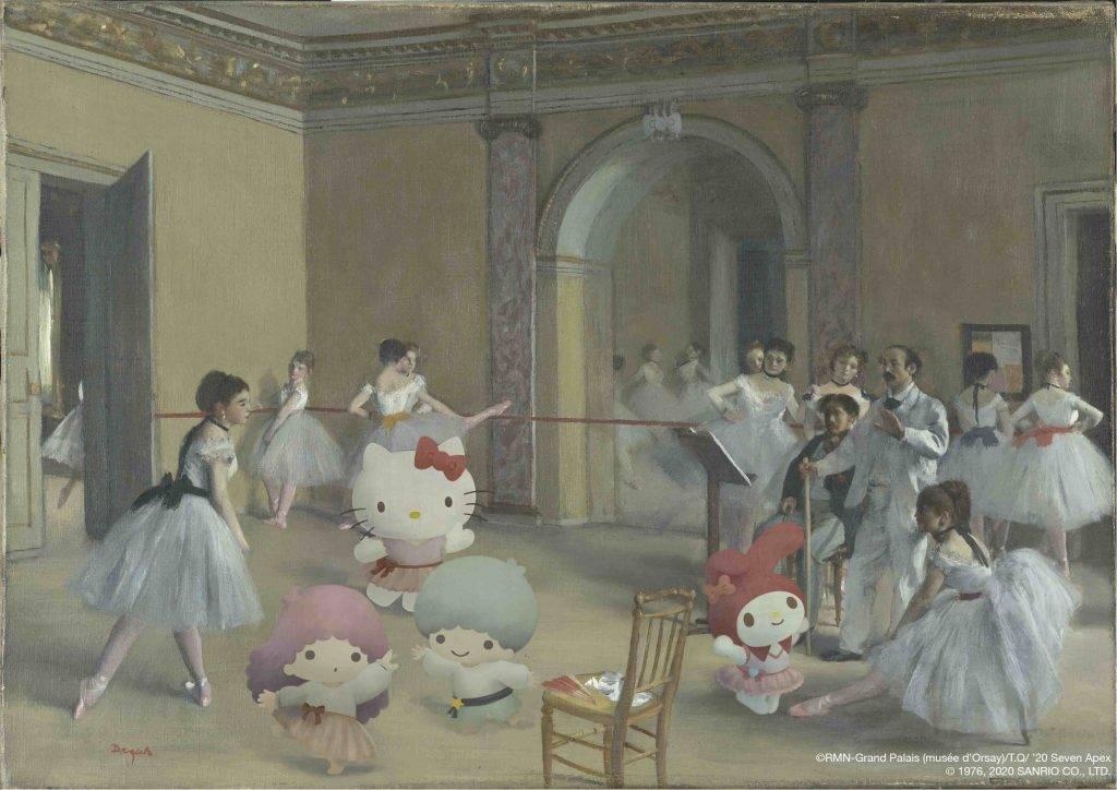 Le Foyer de la danse à l'Opéra de la rue Le Peletier 芭蕾舞課