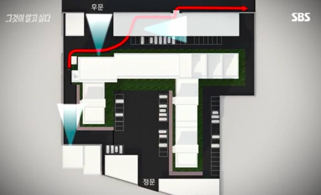 唯一可躲避大廈22個閉露電視離開大廈的方法。(圖片來源:《想知道真相》)