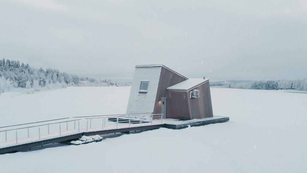 【瑞典鳥巢酒店 Arctic Bath】從鳥巢伸延出來,12間酒店房間。(圖片來源:Arctic Bath)