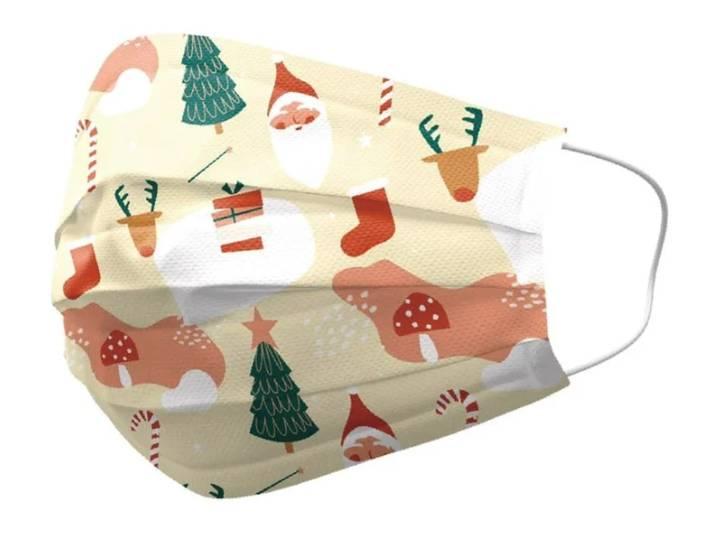 近來都有不少聖誕花紋的口罩(圖片來源:Beauty美人圈)