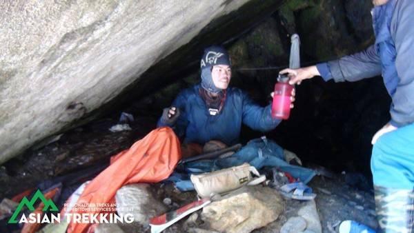 【台灣情侶被困珠峰】(圖片來源:Asian Trekking)