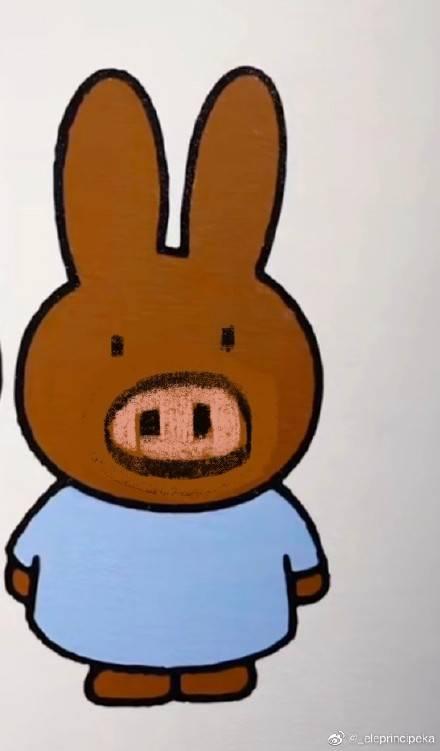 鴨兔的朋友 鴨豬?(圖片來源:_eleprincipeka@微博)