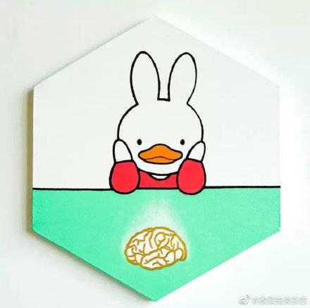 馮教授筆下的鴨兔(圖片來源:_收藏拍卖杂志@微博)