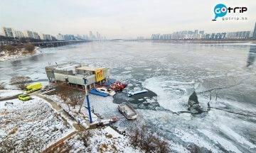 首爾漢江結冰化身冰雪世界 末日景象成網路熱話