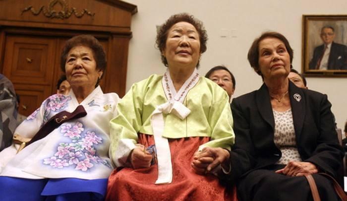 已故金君子婆婆、李容洙婆婆、Jan Ruff O'Herne(圖片來源:YONHAP NEWS)
