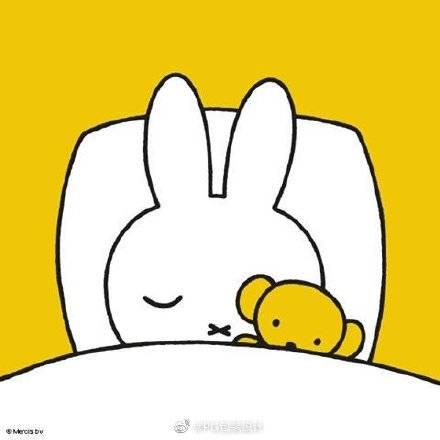 Miffy睡覺畫作(圖片來源:柠檬木聚糖@微博)