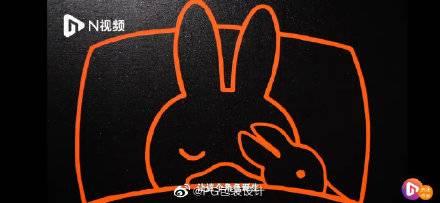 鴨兔睡覺畫作Miffy睡覺畫作,他抱的是一隻鴨仔(圖片來源:柠檬木聚糖@微博)