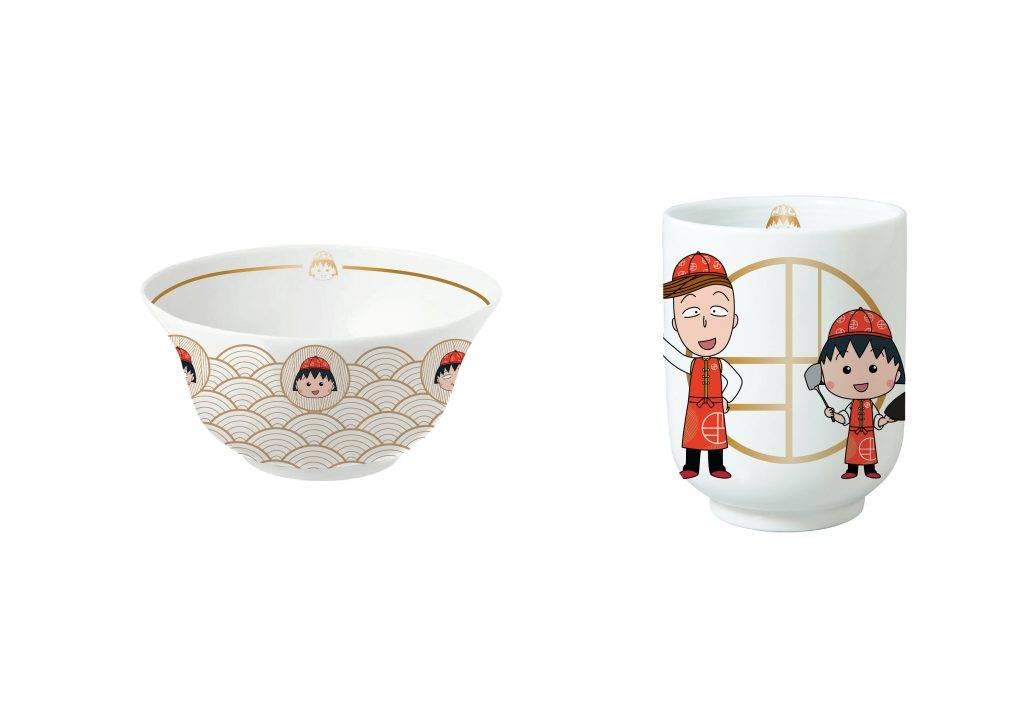 小丸子餐碗 、小丸子茶杯