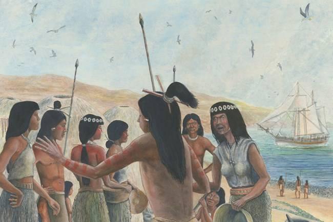 歐洲皮毛商人與族人起了爭執(圖片來源:National Park Service)
