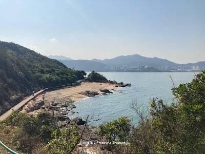 最後我們沿著島邊行,從釣魚公觀景亭到大利島步行大約20分鐘便到達