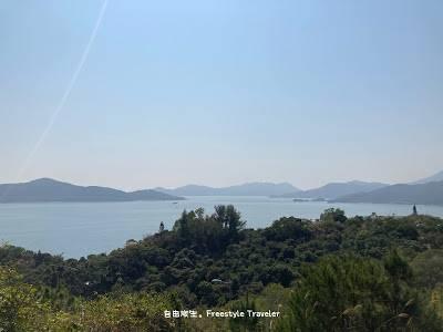 爬樓梯時候看到的景觀,可以遠眺喜靈洲和愉景灣一帶!