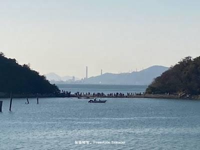 【欣澳行山】這就是由鹿頸村通往長索島之路,那裡是一個連島沙洲,潮退時候可以走過去!