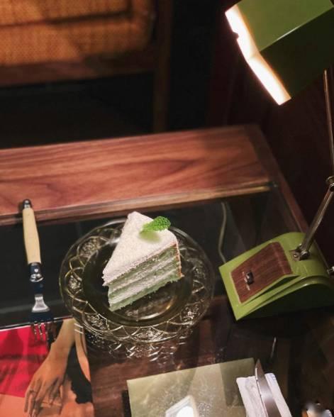 斑蘭咖央椰子戚風蛋糕(圖片來源:楓子珈琲)