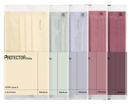 五款新色系:奶油黃 (Buttercream)、鼠尾綠 (Sage)、迷迭紫 (Haze)、日出紅 (Dawn) 及 棗泥紅 (Twist)。(圖片來源:Protector)