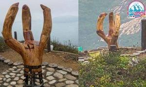龍脊現疑似龍爪掌心有符號 網民:似風水陣壓制香港