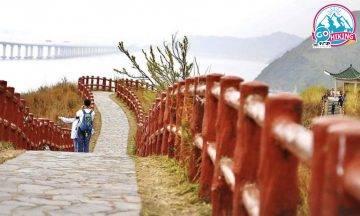 大澳行山|虎山行山路線 被海景包圍的紅色欄桿/天空步道