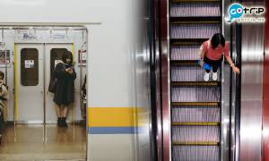 日本立法禁止行人於扶手電梯上行走