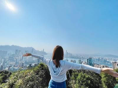 香港行山|攀上紅香爐峰,維港景色盡收眼底(圖片授權:蝴蝶結姐姐歎生活)