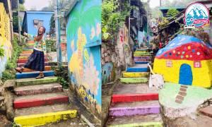 荃灣好去處|光板田村+彩虹樓梯+壁畫+下午茶!港版彩虹眷村 來回不用1小時