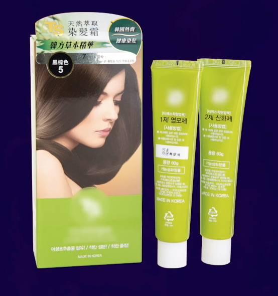 消委會染髮劑測試 其中一款名為「TS」的含氧化染料的永久性染髮劑被驗出有禁用成份MPD(圖片來源:消委會)