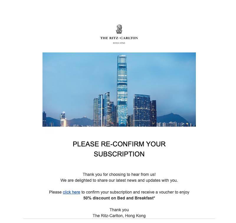 登記完成後,就會見到有得送半價券(圖片來源:Ritz-Carlton截圖)