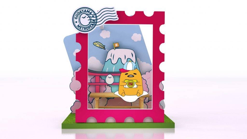 蛋黃哥與富士山郵票造型的打卡位(圖片來源:官方提供)