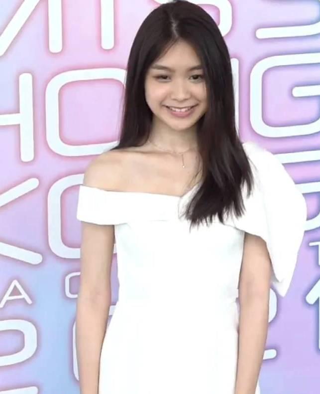 19歲Michelle(圖片來源:無綫娛樂新聞台截圖)