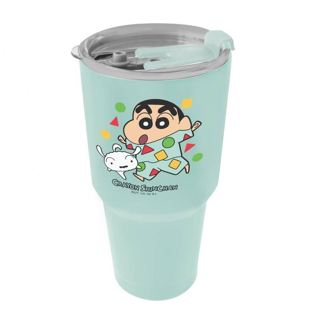 蠟筆小新特大容量真空杯 (藍色/ 綠色) (預購價:8)(圖片來源:官方提供)