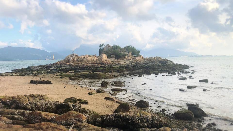 被網民稱做「隱世沙灘」(圖片來源:豹紋魚)